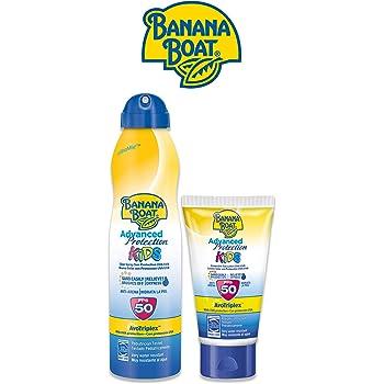 Banana Boat KIDS Pack Duo SPF 50 - Kit de Crema Solar Niños, Spray ...