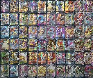 Eholder Carte Pokemon Vmax V 60 pièces Pokemon Trading Cards Set avec 49 V Pokemon Cards 11 Vmax Pokemon Cards