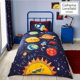 comprar comparacion Catherine Lansfield Happy Space Easy Care - Juego de Funda de edredón Individual, Color Azul Marino