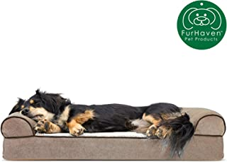 Furhaven Pet Dog Bed | Orthopedic Sofa-Style Traditional...
