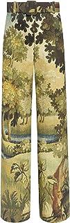 Oscar de la Renta Landscape-Print Wide Leg Pant