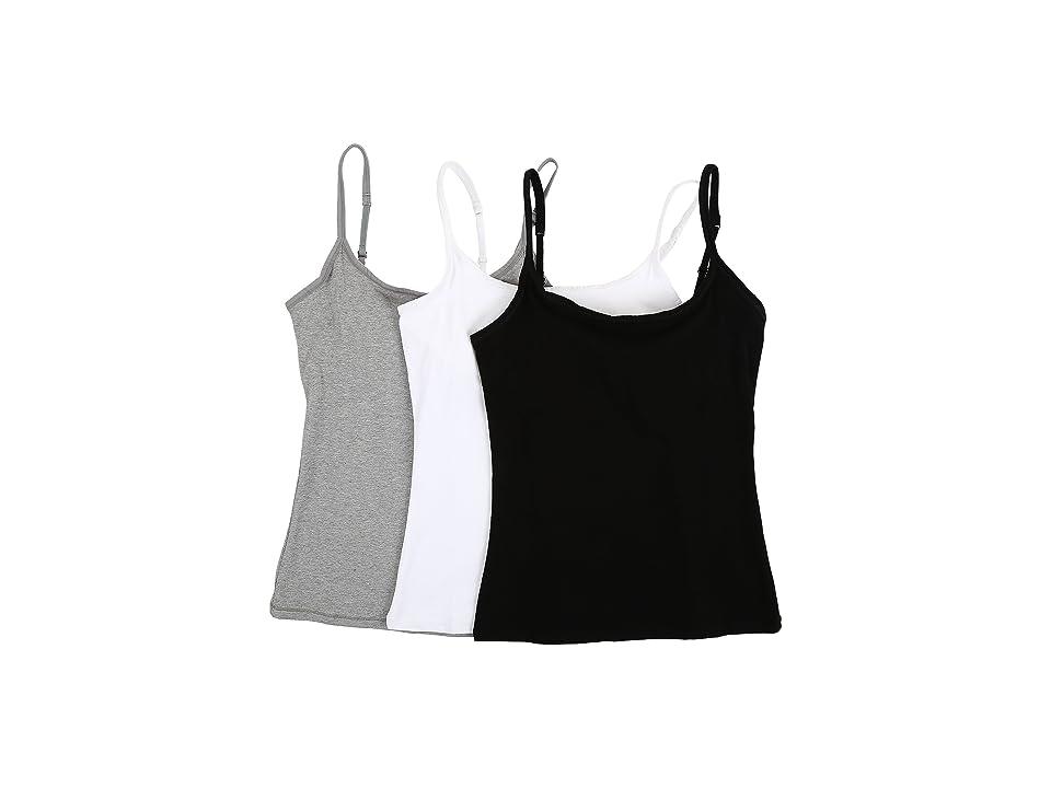 PACT Everyday Camisole w/ Shelf Bra 3-Pack (Multi) Women