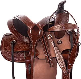 "Acerugs SEAT Size 12"" 13"" 14"" Youth Kids Horse Saddle TACK Western Pleasure Trail Roping Barrel Rough Out FENDERS Premium Leather"