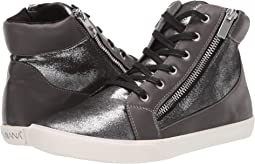 Pewter Shiny Suede