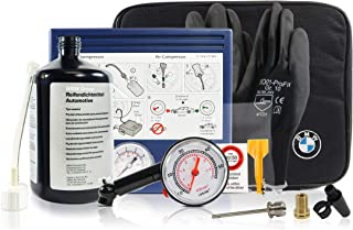 Tire Mobility Kit 71102333674 OEM - Flat Tire Sealant Repair Set Including Air Compressor, Universal Adapter and Other Supporting Tools, for All BMW Models