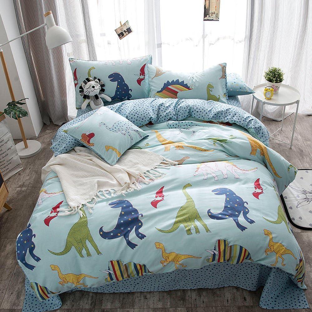 Merryfeel Max 44% OFF Dinosaur New item Duvet Cover Set Print Cotton Du 100%