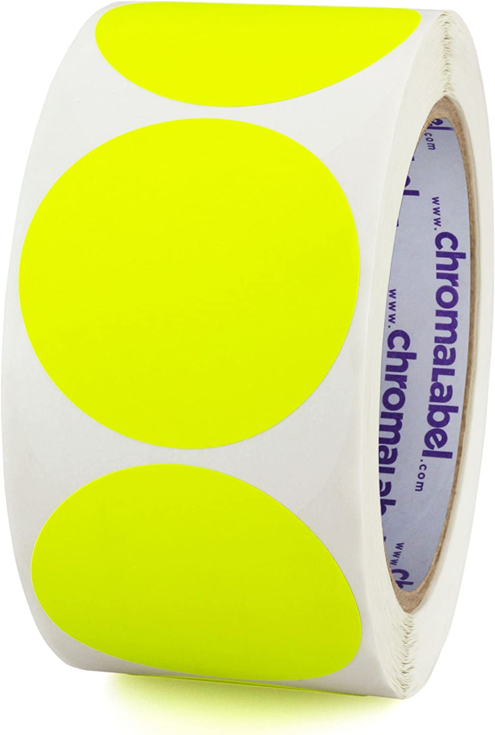 Topics on TV ChromaLabel 2 Inch Round Permanent Color-Code Stickers 500 Dot Popular popular