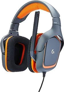 Logitech G231 Prodigy - Gaming Headset, Color Negro con Naranja
