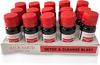 Herbal Detox Cleansing Supreme Shots - Ayurveda Super Colon Body Cleanse - 4000 Mg Highest Potency - Best Formula for Digestion, Appetite, Blood Sugar, Weight Loss - Natural Organic Intestinal Cleanse