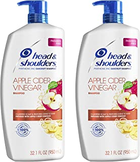 Sponsored Ad - Head & Shoulders Dandruff Shampoo, Clarify Scalp, Infused with Apple Cider Vinegar, 32.1 Oz Each, Twin Pack