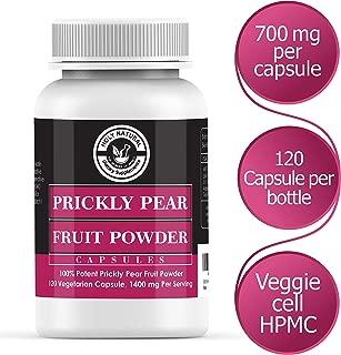 100% Pure Prickly Pear Fruit Powder Capsule - 1400mg Per Serving, 120 Veggies Capsule, (No Rice Flour, No Bulking Agent, No GMO, No Additive, No Preservative)