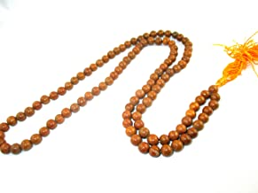 Hitech 108 Beads Red Chandan Rakta Sandalwood mala knotted in thread in traditional style to cure skin related problems and cooling. Size 30