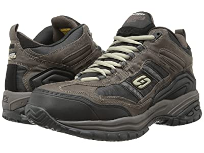 SKECHERS Work Soft Stride Canopy (Brown/Black) Men