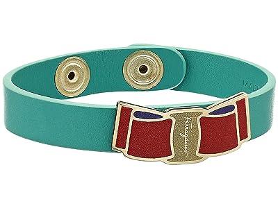 Salvatore Ferragamo Animated Vara Bow Bracelet (Turquoise) Bracelet