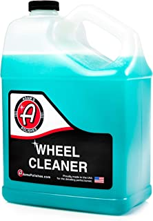 Adam's Deep Wheel Cleaner Gallon - Color Changing Formula That Eliminates Tough Brake Dust On Rims, Clear Coated, Polished, Painted & Plasti Dipped Wheels- Gentle On Most Finishes During Car Wash