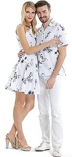 カップルマッチングハワイアンルアウクルーズ服装シャツヴィンテージドレスクラシックホワイト