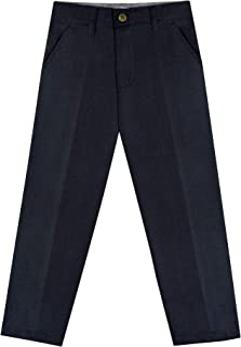 Buyless Fashion Boys Pants Flat Front Regular Fit Polyester Formal and Casual