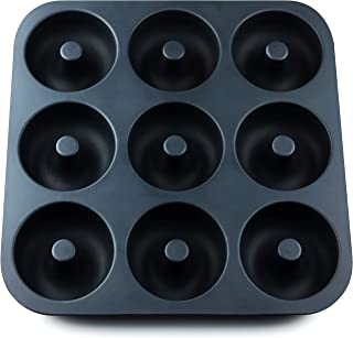 Full Size Donut Pan Super Non-Stick Silicone, Makes 9 Full Size Donuts,