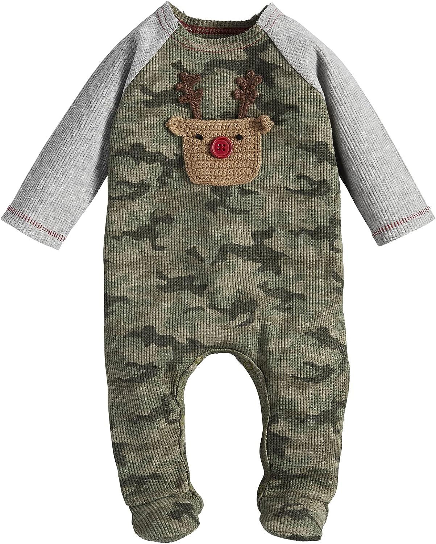Mud Pie Baby Boys' Camo Crochet Sleeper