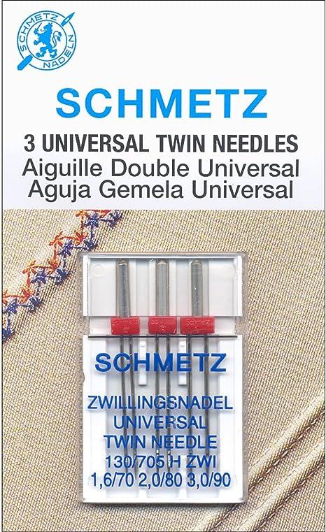Twin Machine Needle - Size 1.6/70, 2.0/80, 3.0/90