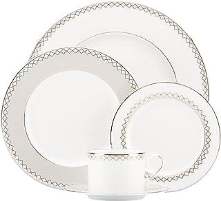 Lenox Quatrefoil 5-Piece Place Setting, White