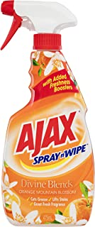 Ajax Spray n' Wipe Divine Blends MultiPurpose Kitchen and Bathroom Household Cleaner Orange Mountain Blossom, 475mL