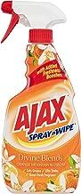 Ajax Spray n' Wipe Divine Blends MultiPurpose Kitchen and Bathroom Household Cleaner Orange Mountain Blossom, 475mL