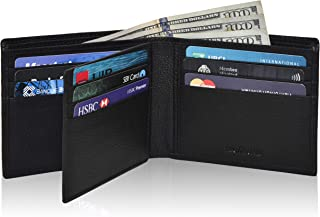 Genuine Leather Bifold Wallets for Men- RFID Blocking Secure Slim mens wallet travel credit card...