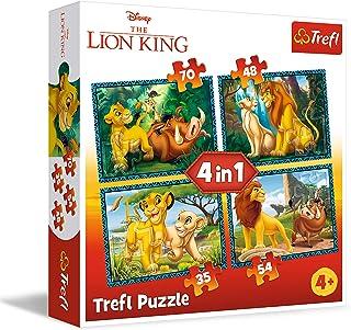 Puzzle 4w1 Król Lew i przyjaciele