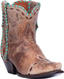 Women's with Turquoise Mule Ear Booties Snip Toe