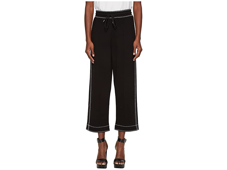 McQ Contrast Sweatpants (Darkest Black) Women