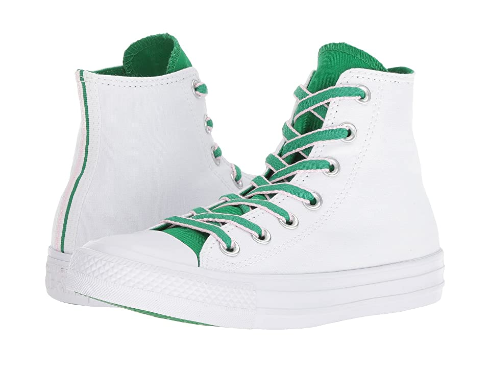 Converse Chuck Taylor(r) All Star(r) Hi Court Prep Block (White/Green/Cherry Blossom) Classic Shoes