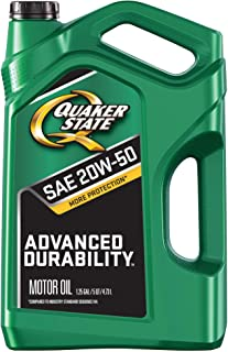 Quaker State Advanced Durability Conventional 20W-50 Motor Oil (5-Quart, Case of 3, New Packaging)