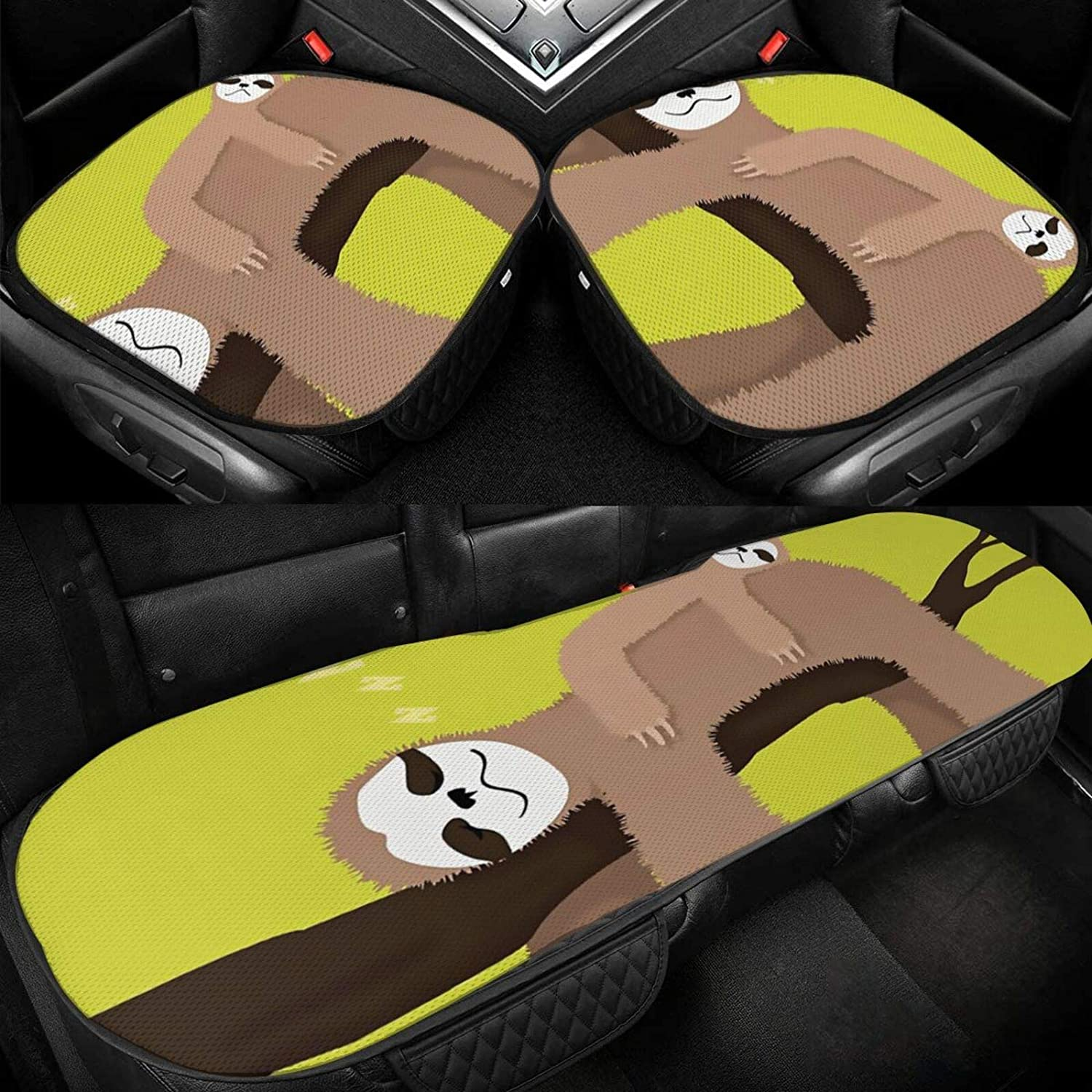 Car Seat Cushion Covers Cute Max 44% OFF Sleeping Sloth 5% OFF Cover Bottom fo