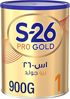 Wyeth Nutrition S26 Pro Gold Stage 1, 0-6 Months Premium Starter Infant Formula, 900g