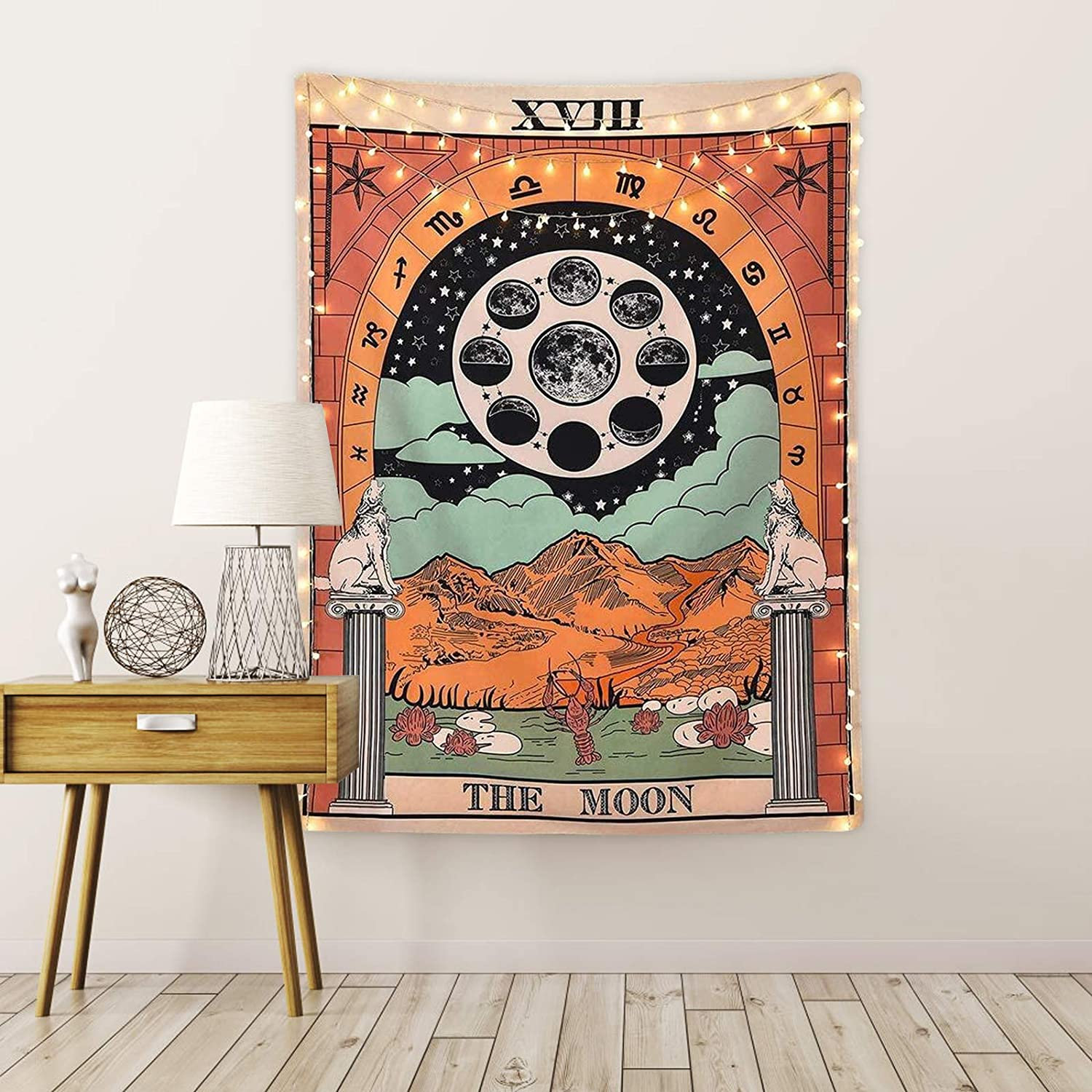 specialty shop The Moon Tarot Card Tapetsry sma Europe Medieval Mysterious High material Flag