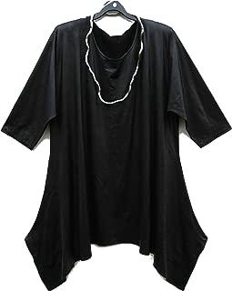 Damen Tunika MAGNA Glitzer Bluse Longshirt festlich schwarz 44 46 48 50 52 54 56