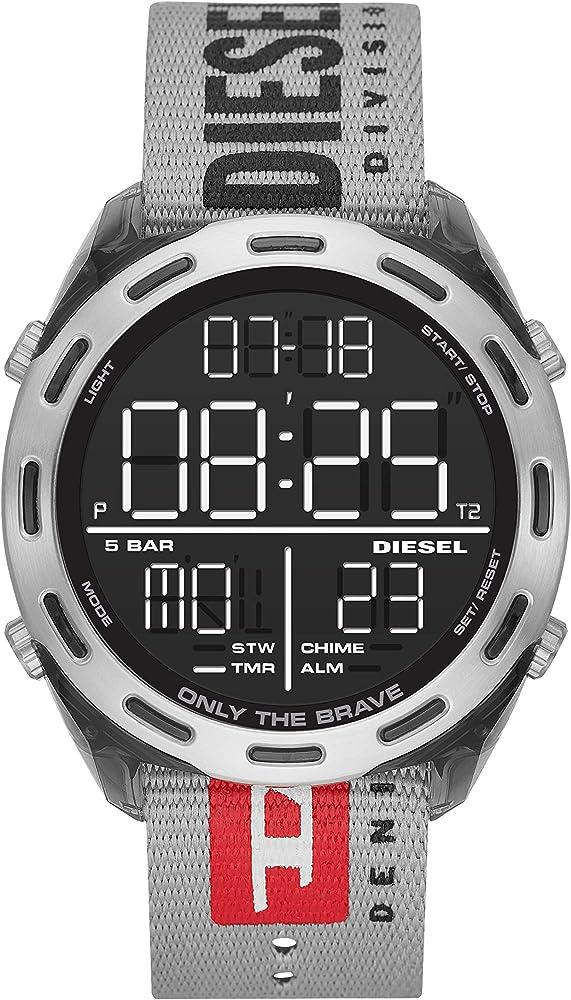 Diesel, orologio digitale da uomo, con cinturino in nylon DZ1894
