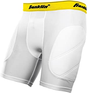 Franklin Sports Youth Baseball Sliding Shorts - Padded Slide Shorts with Cup Holder - Compression Shorts Perfect For Baseball and Softball