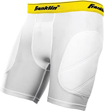 Franklin Sports Youth Baseball Sliding Shorts - Padded Slide Shorts with Cup Holder - Compression Shorts Perfect For Baseball