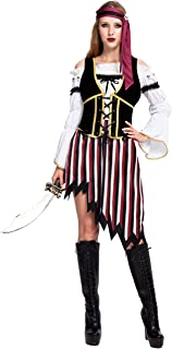 Spooktacular Creations High Seas Pirate Wench Captain Costume for Women Halloween Role-Playing