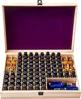 Unique Essential Oil Storage Box Organizer 72 Bottle - Holds 5-15ml & 10ml Roller Bottles - 2 Carry Handles (Removable Space for 2oz - 4oz Bottles) - Free Roller Bottle Opener & 192 EO Labels