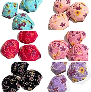 10 Pieces Grab Bag 1.5'' Floral Printed Rolled Rose/DIY Headband Hair Bow KD-2085