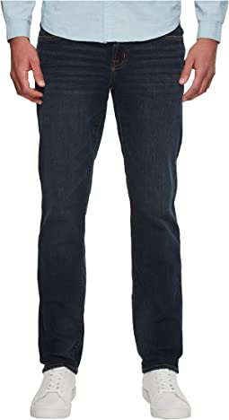 Five-Pocket Slim Straight Jeans in Blue