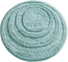mDesign Soft Microfiber Polyester Non-Slip Round Spa Mat, Plush Water Absorbent Accent Rug for Bathroom Vanity, Bathtub/Sh...