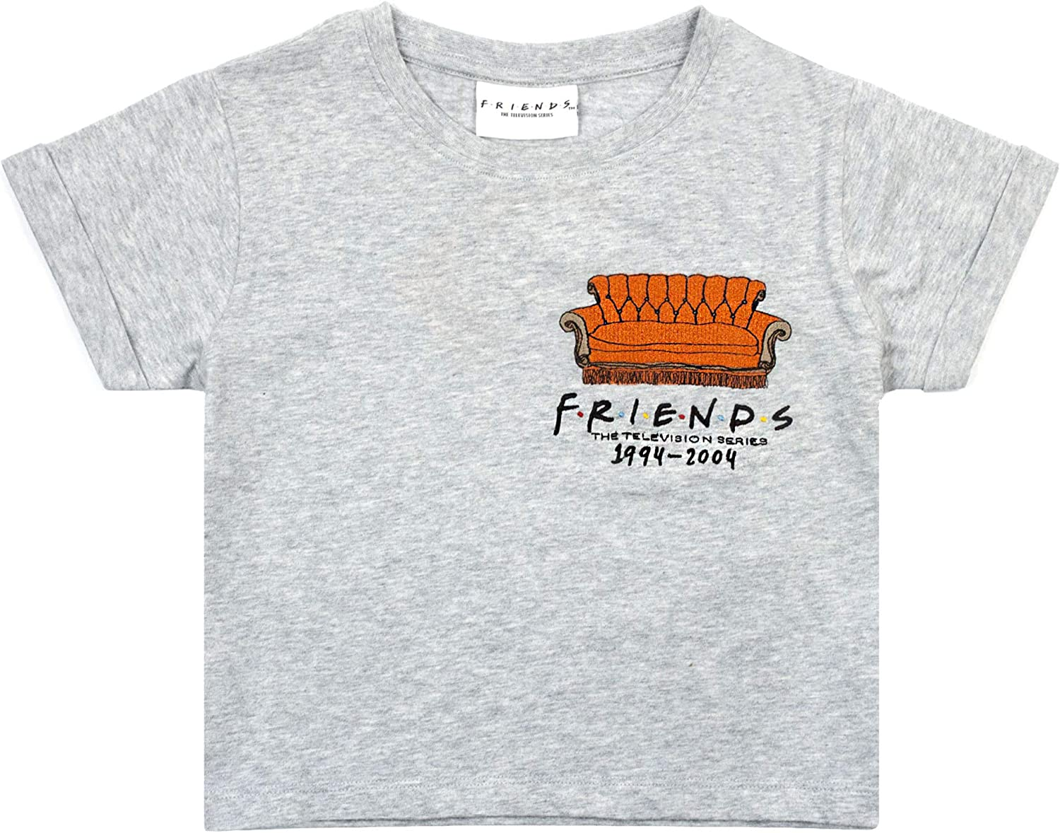 Friends Girls Cropped T-Shirt Fees free Central Perk Show Ranking TOP10 Kids Couch Gr TV