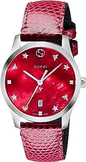 Gucci Womens Quartz Watch, Analog Display and Leather Strap YA126584