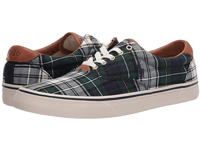 Polo Ralph Lauren  Thorton (Green Cotton Tartan) Mens Shoes