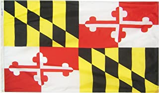 Annin Flagmakers Model 142360 Maryland State Flag 3x5 ft. Nylon SolarGuard Nyl-Glo 100% Made in USA to Official State Design Specifications.