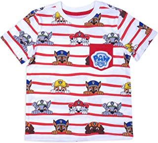 Paw Patrol Toddler Little Boys All Over Print T-Shirt With Pocket